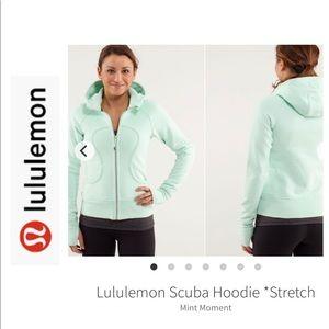 LuLuLemon Icy Blue Scuba Jacket. Size 6.